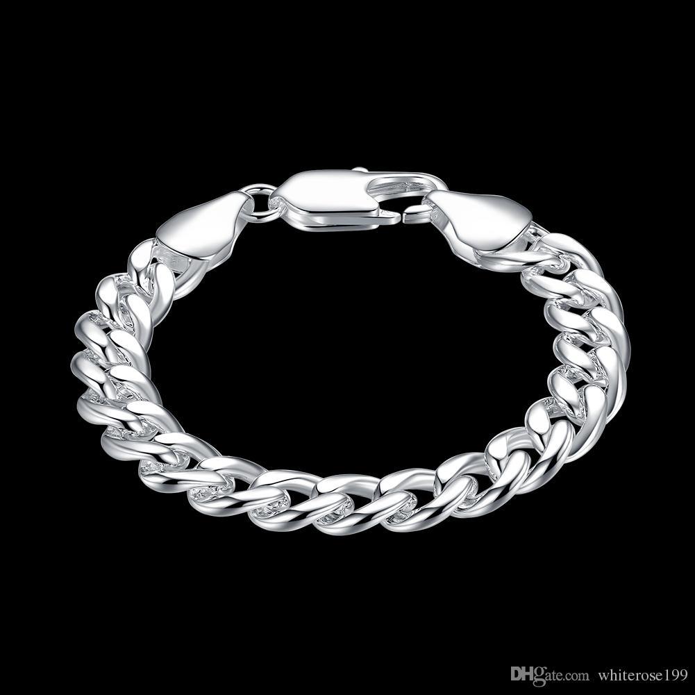 Venta al por mayor - Regalo de Navidad de precio más bajo al por menor, envío gratis, nueva pulsera de plata 925 de moda B68