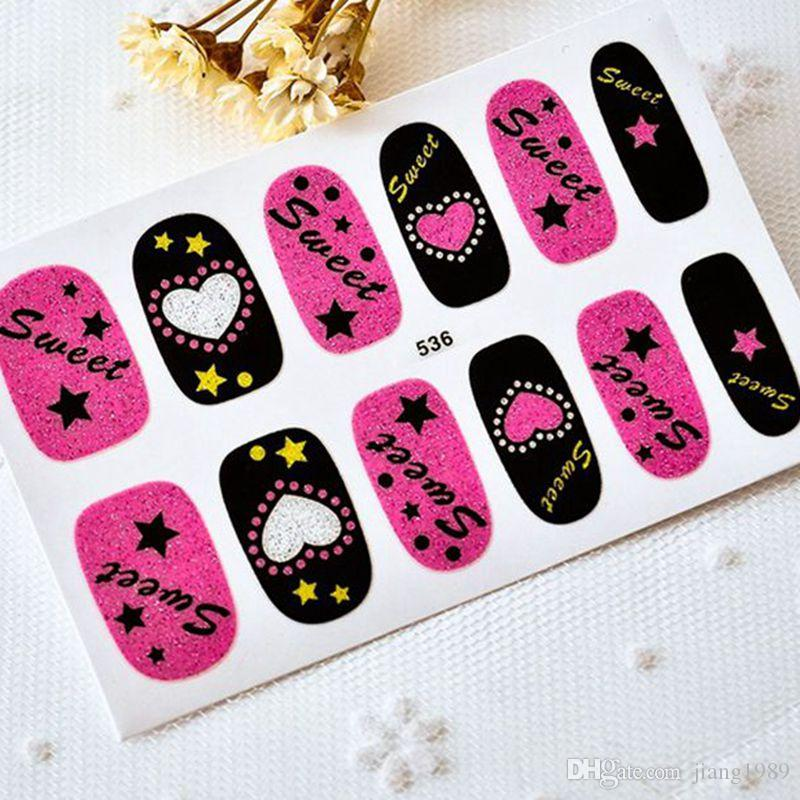 Children Nail Stickers Decals Paste Nail Sticker Beauty Nail Art Oil