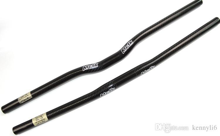 Mcfk Mtb bisiklet gidon 25.4mm 3 K tam karbon fiber Dağ bisiklet katlanır BMX çocuk 'bisiklet parçaları düz rise handlebars 580-680mm