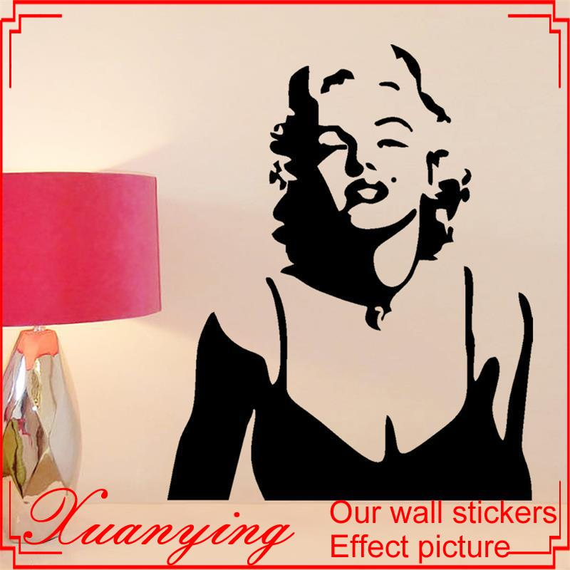 Marilyn Monroe Wall Decor Red Lips Wall Stickers Home Decoration ...