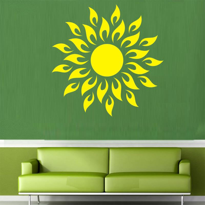 wall sticker high quality yoga wall decal sunflower mirror mural