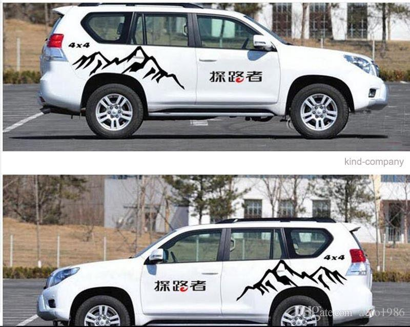 A Set Suv Auto Car Truck Mountain Styling Vinyl Car Body