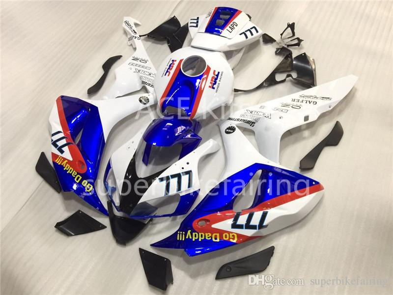 3 free gifts For Honda CBR1000RR 06 07 1000RR 2006 2007 ABS Plastic ABS Injection Motorcycle Full Fairing Kit hot sales HRC 777