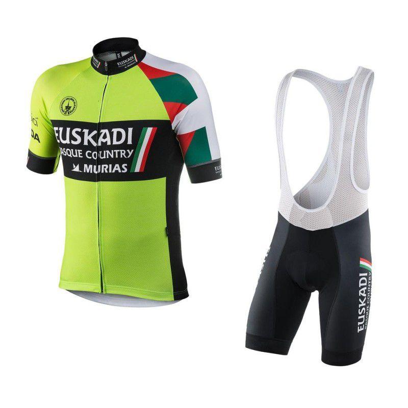 Ropa Ciclismo Equipo Euskadi Basque País Murias Jerseys De Ciclismo Conjunto  De Verano Bicicleta Maillot Transpirable MTB Manga Corta Bicicleta Paño De  Gel ... f9d8f6e10d1