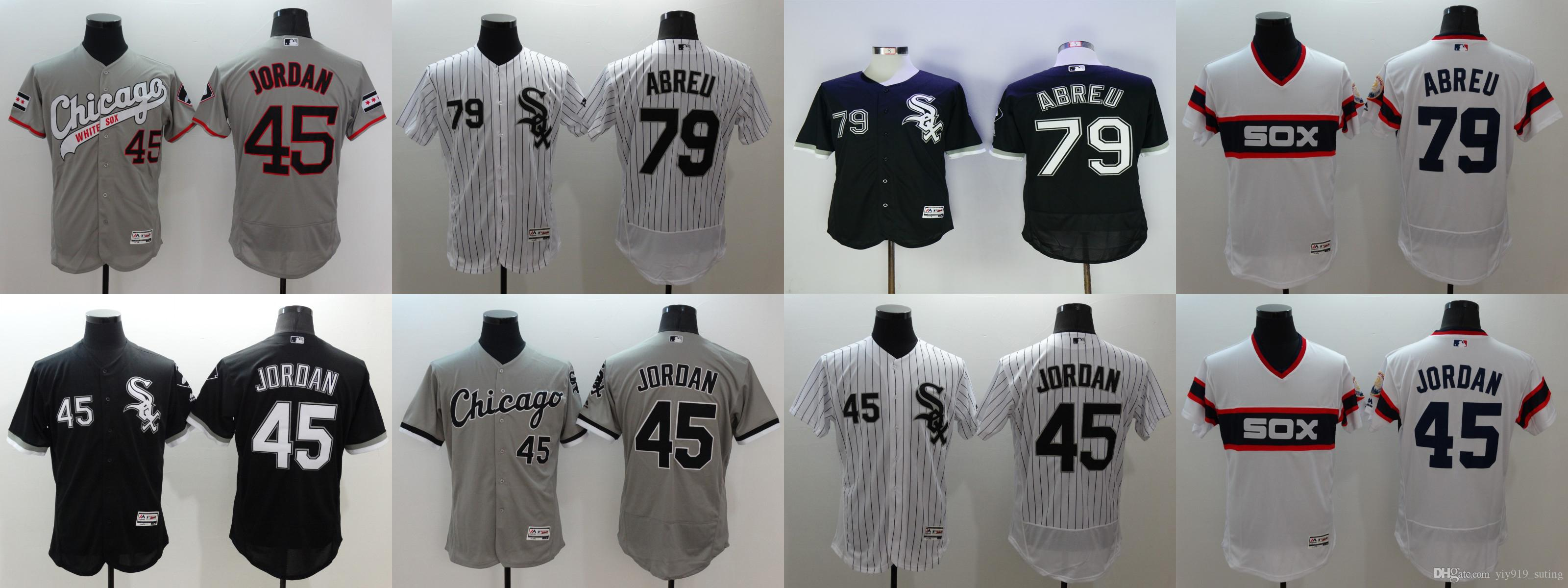 c97a7e89a9b ... denmark 2017 chicago white sox jersey mens 45 michael jordan 79 jose  abreu flexbase collection baseball ...
