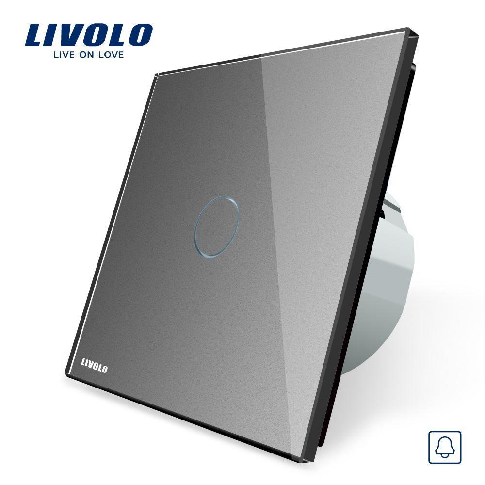 2018 Livolo Eu Standardvl C701b 15 Door Bell Switch Crystal Glass