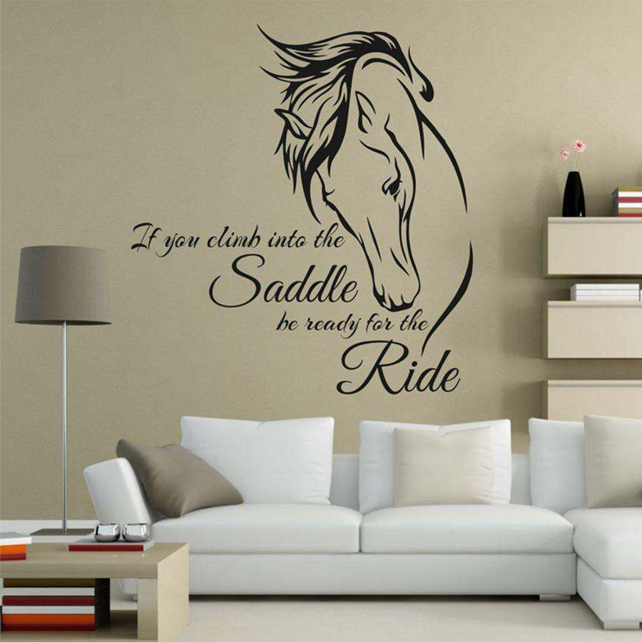 Horse Riding Wall Decal Quote Vinyl Art If You Climb Into The - Wall decals art