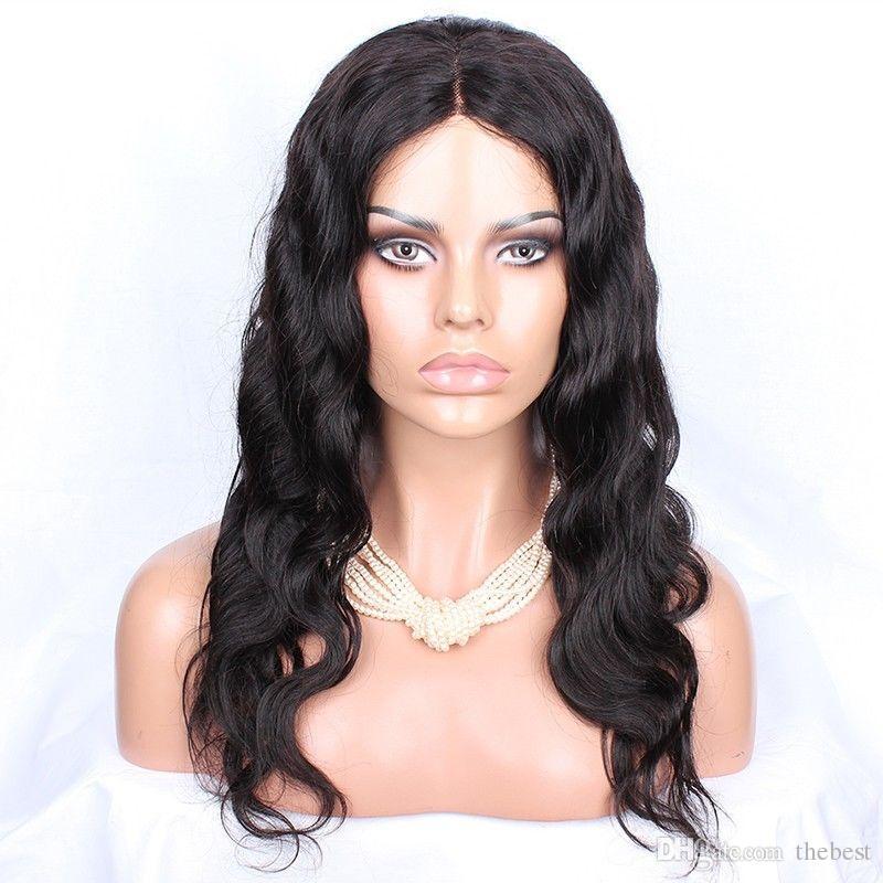 2016 جزء لينة البرازيلي متموجة الحرة غلويليس كامل الدنتلة والدانتيل الجبهة الباروكة شعر الإنسان الباروكات