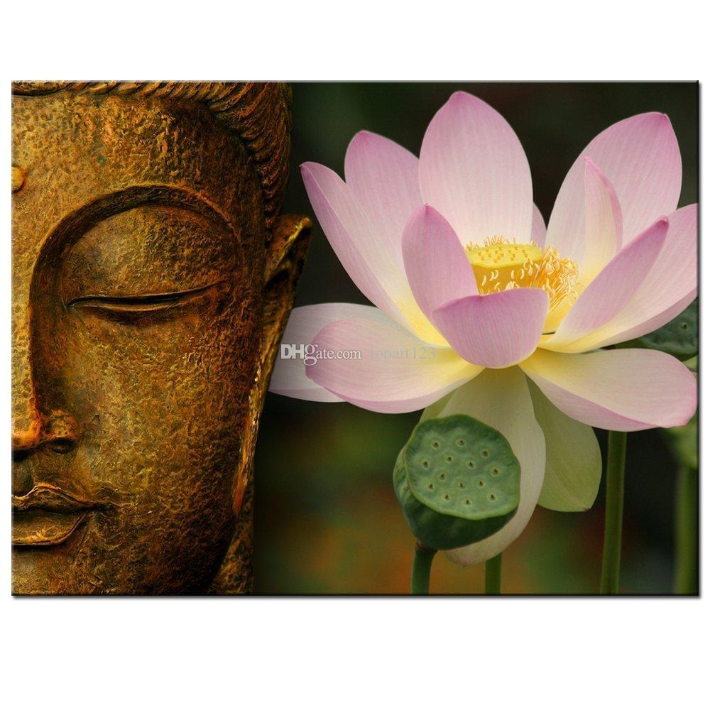 2018 buddha canvas wall artlarge size zen lotus flower canvas print 2018 buddha canvas wall artlarge size zen lotus flower canvas print with framemodern peaceful home decoration artwork from topart123 3799 dhgate izmirmasajfo