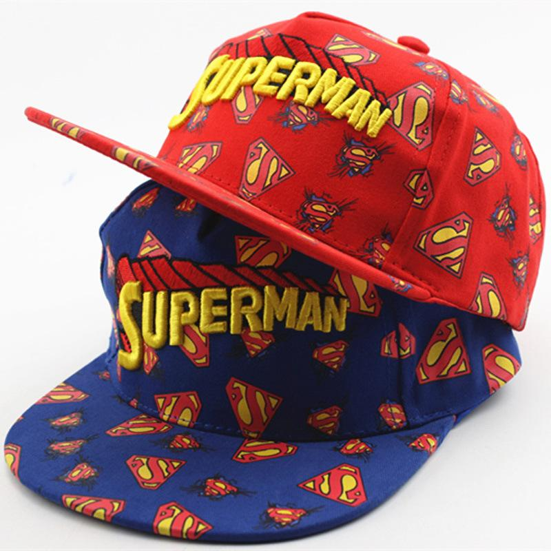 d3923a7f5 2017 New Children Hip Hop Baseball Cap Summer Colorful Superman letters  kids Sun Hat Boys Girls snapback Caps for 2-8 years old