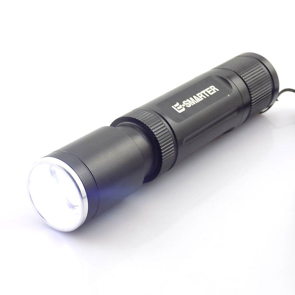 Zoomable 2 leds Luce UV bianco viola Torcia ultravioletta Flash light Blacklight Ultraviolet Torch Lamp Money Detection
