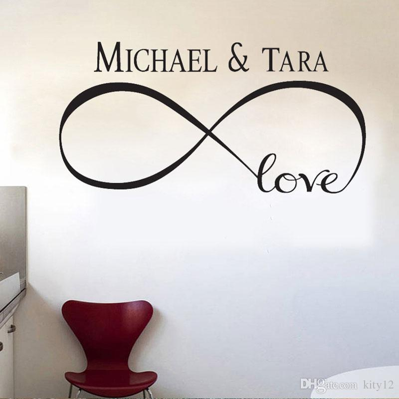 New Personalized Infinity Symbol Love Bedroom Wall Decal Quotes