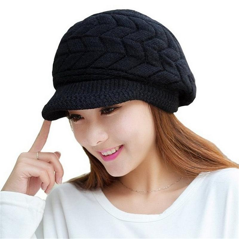 9ddc41fc 2019 Wholesale 2016 New Women Girl Slouchy Cut Openings Fluffy Knit Beanie  Crochet Rib Hat Brim Cap Winter Warm From Juaner, $20.72 | DHgate.Com