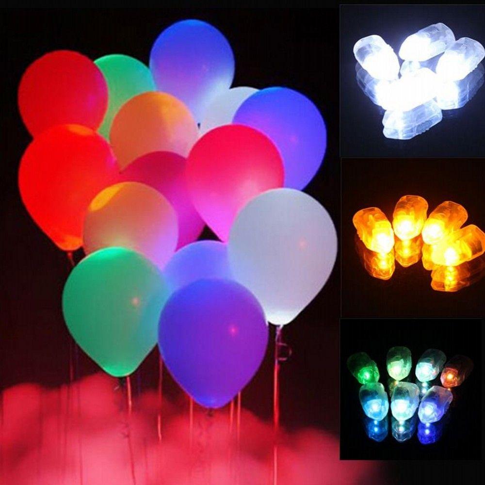 new arrival light up led balloon lights bullet design colorful paper