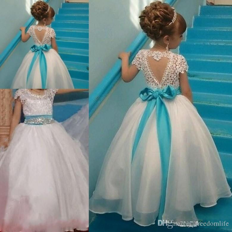 c00d54de4f8 Special Design Flower Girl Dresses Backless Floor Length Ball Gown Sash  Beads Bow Toddler Pageant Girl Dresses Lace Organza Flower Girl Dresses  Under 50 ...