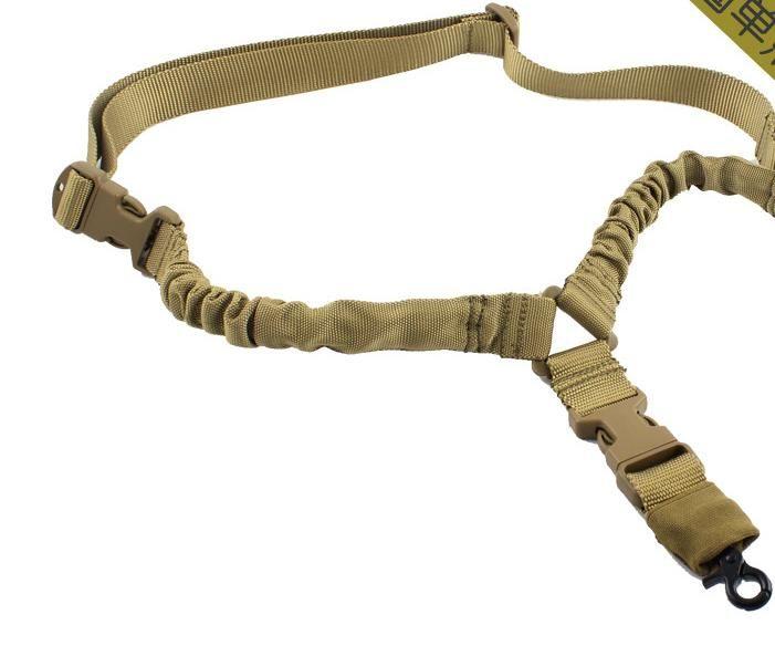 Sangle américaine tactique Sling Single Point Single Sangle réglable pour élingues de fusil pour arme à feu Sangle Système de sangle Sling tactique CS Sling Gun