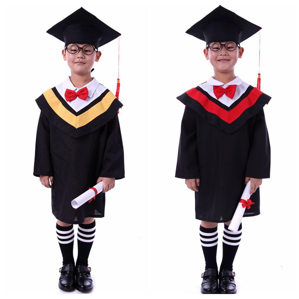 Online Cheap Kids Primary School Graduation Gown With Hat ...