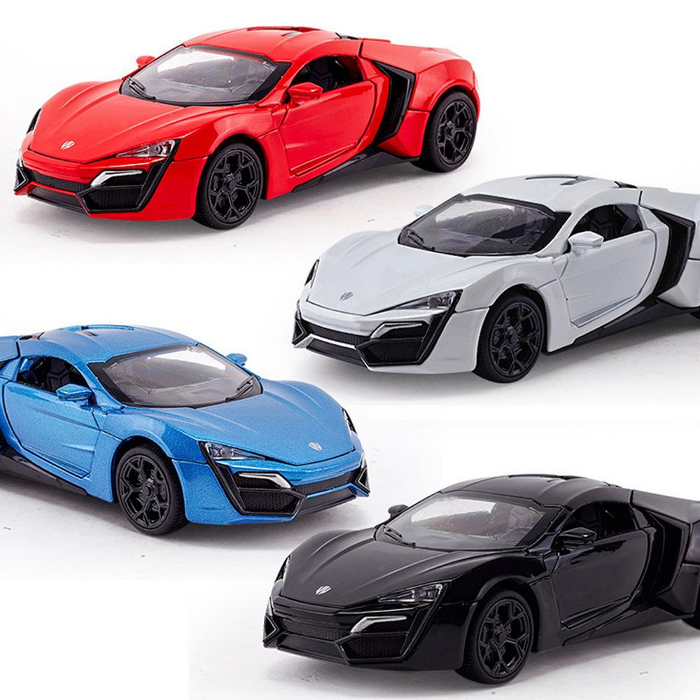 2019 1:32 Kids Toys Fast And Furious 7 Lykan Hypersport