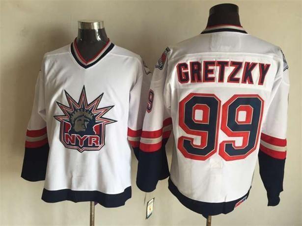 New York Hockey # 2 Brian Leetch 35 Richter 9 Adam Graves 68 Jagr 99 Gretzky 11 Messier BLANC BLEU Maillots