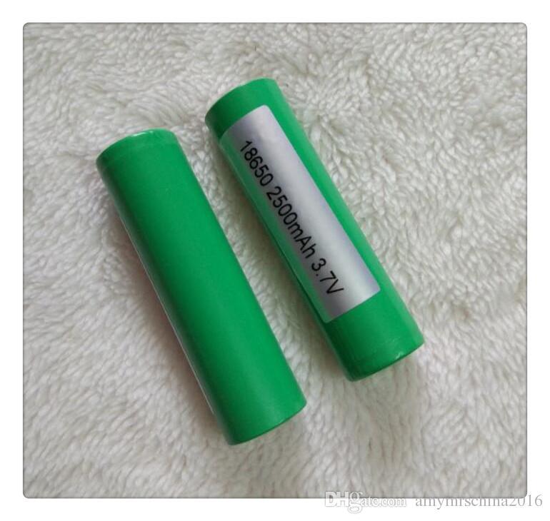 Batería de litio INR18650 Green25R de alta calidad al por mayor, batería de li-ion 2500mAh para todo tipo de cigs e Calidad superior