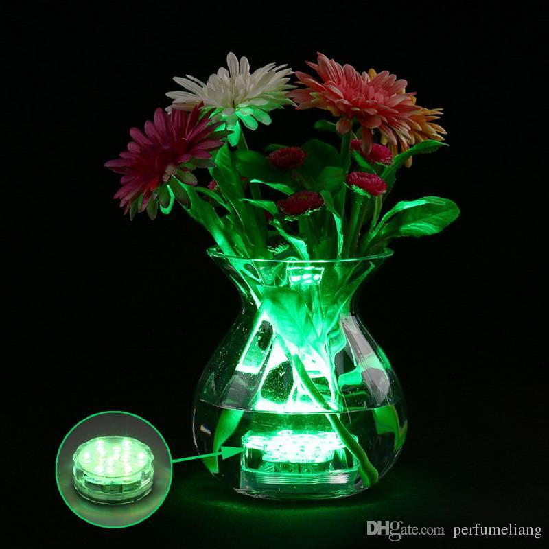 RGB Control remoto multi es a prueba de agua sumergible Led Light Jarrones Base Light para boda Celebración