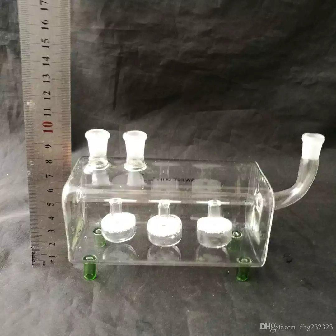 Accesorios de doble pipa de vidrio de cachimba, tubos de fumar de vidrio colores mini multi colores Tubos de mano mejor tubo de vidrio de cuchara
