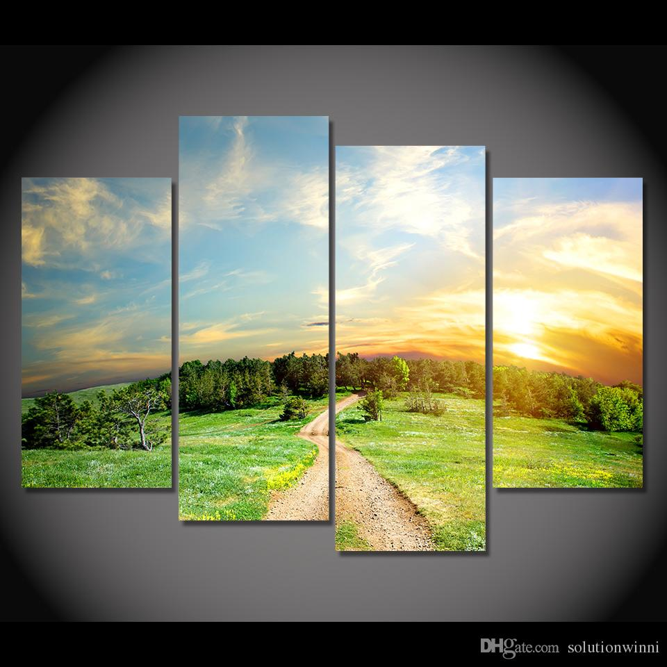 Online Cheap Canvas Painting Wilderness Land Hd Printed Canvas Art ...