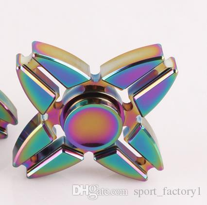 Aluminum Alloy Metal Rainbow Color Hand Spinner High Speed Edc