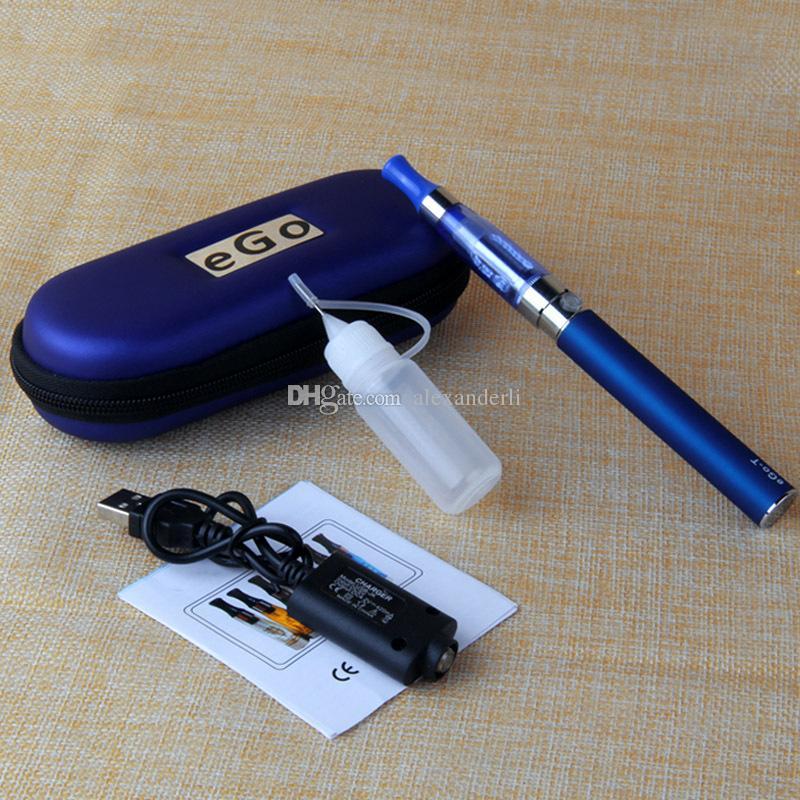 eGo CE4 Starter Kit E Cigarette 1.6ml CE4 Clearomizer E Cig Zipper Case Kit Single 650mAh 900mAh 1100mAh eGo T Battery