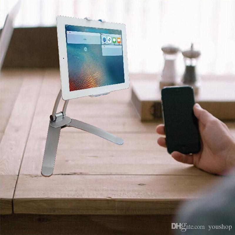 Großhandel Universal Gooseneck Tablet Desk Halter Standplatz Cradle 2 In 1  Tablet Halter Küche Halterung Wandhalterung Für Ipad Luft / Mini Von ...