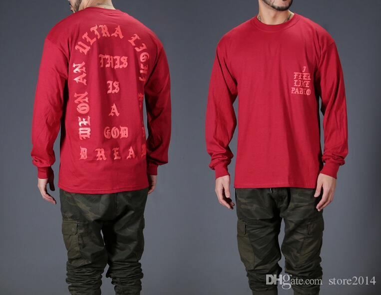 Camiseta Yeezus Me siento como Kobe Camiseta Hombre Kobe Retire camiseta conmemorativa Mamba Camiseta Yeezus Hip Hop Sport Tops Kanye West