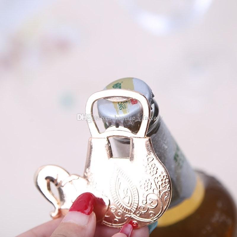Счастливый Слон В Форме Хром Открывалка Для Бутылок Пива Открывалки Свадебные Сувениры Поставки Вина Пользу Рождественский Подарок Новый