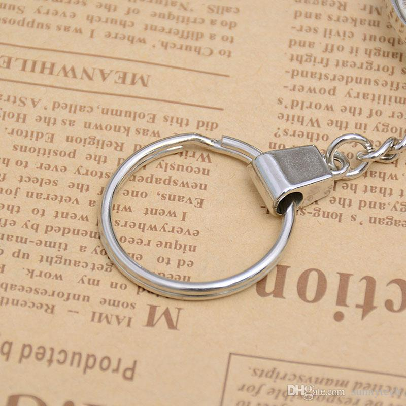 Mini Pocket Key Ring Magnifying Glasses Lens 8X Folding Portable Magnifier Keychain Carry Metal Reading Map Word Eye Loupe ZA2806