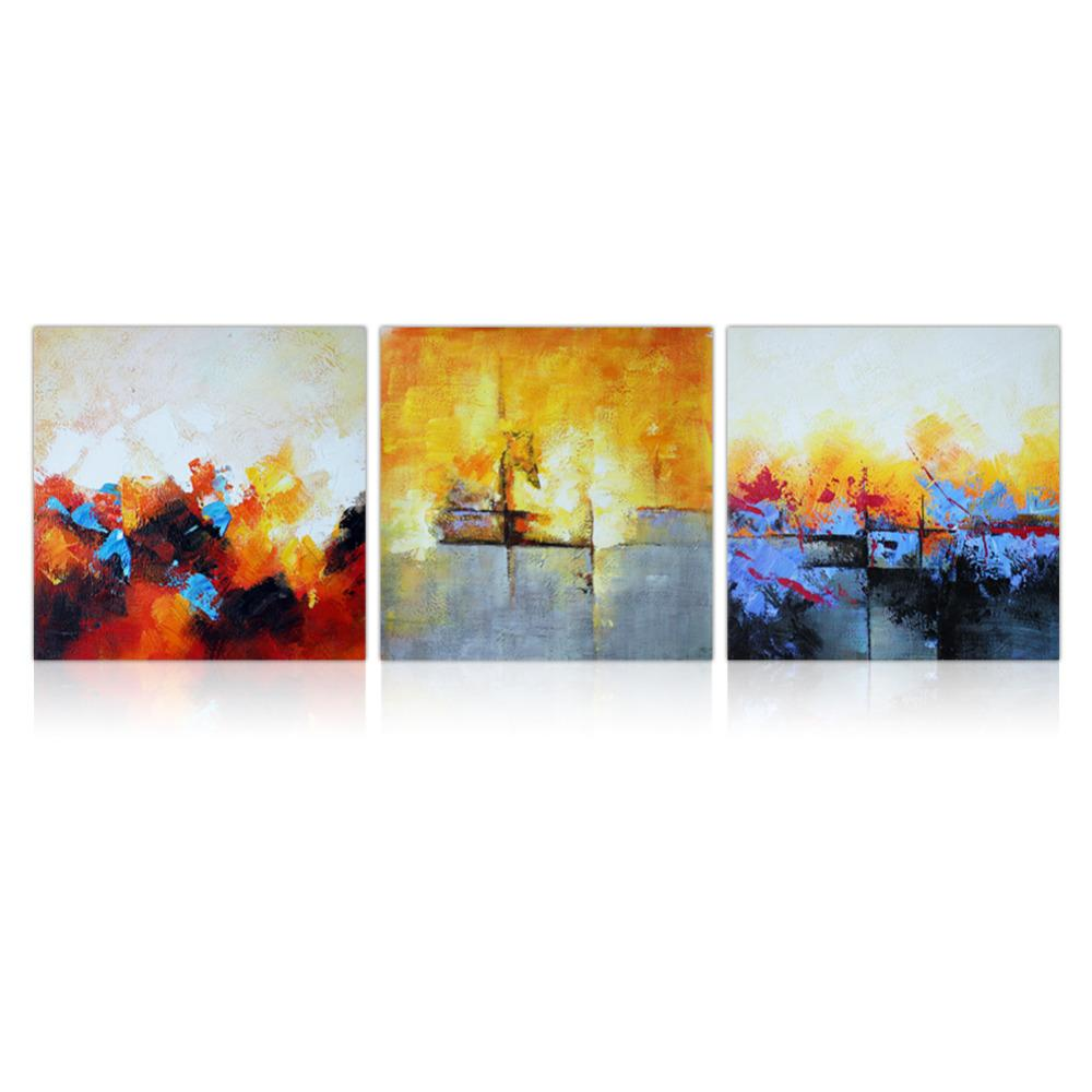 IARTS 3 Panel Abstract Framed Oil Paintings Handpainted USA Delivery ...