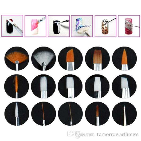Nail Brush Of Painted Light Treatment Point Drill Pen 15 White Pole +5 Screw Rod Drill Pen