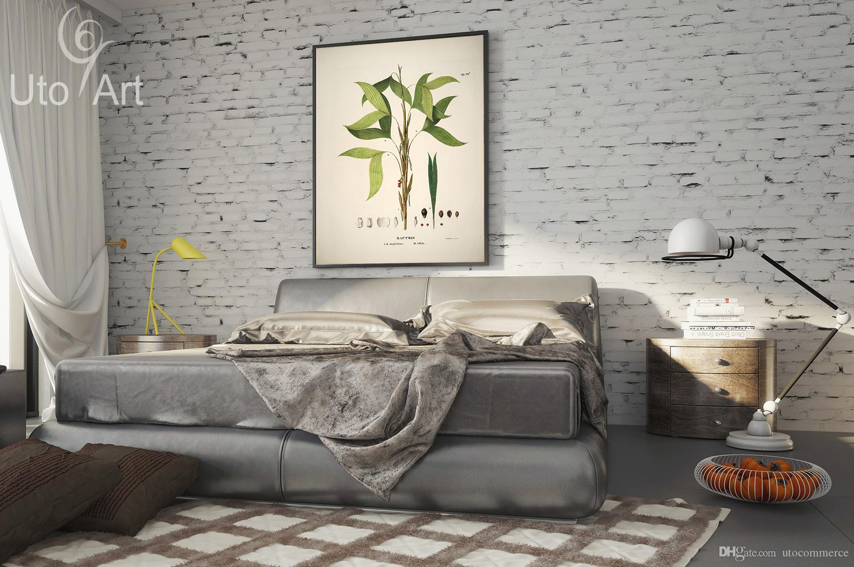 HD Modern Custom Wall Art Print Decoration Painting Leaf Digital Picture Spray Print Plant Photo On Canvas Home Déco