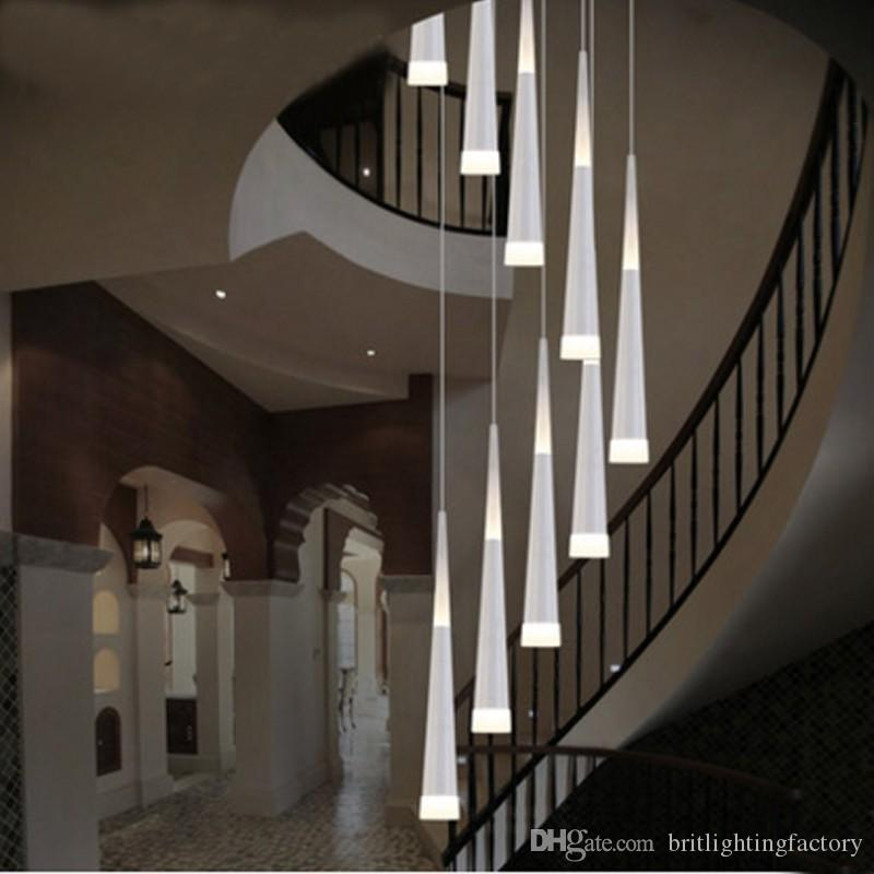 Attractive Free Shipp Led Lampshade Linear Pendant Lighting Modern Lamp Shade Led  Villa Duplex Stairs Light Hotel Restaurant Pendant Pendant Lamp Pendant  Lighting For ...