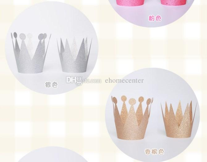 birther party hats Birthday Crown hat party hair accessory prince princess for party decorations adult child crown hat DHL JH001