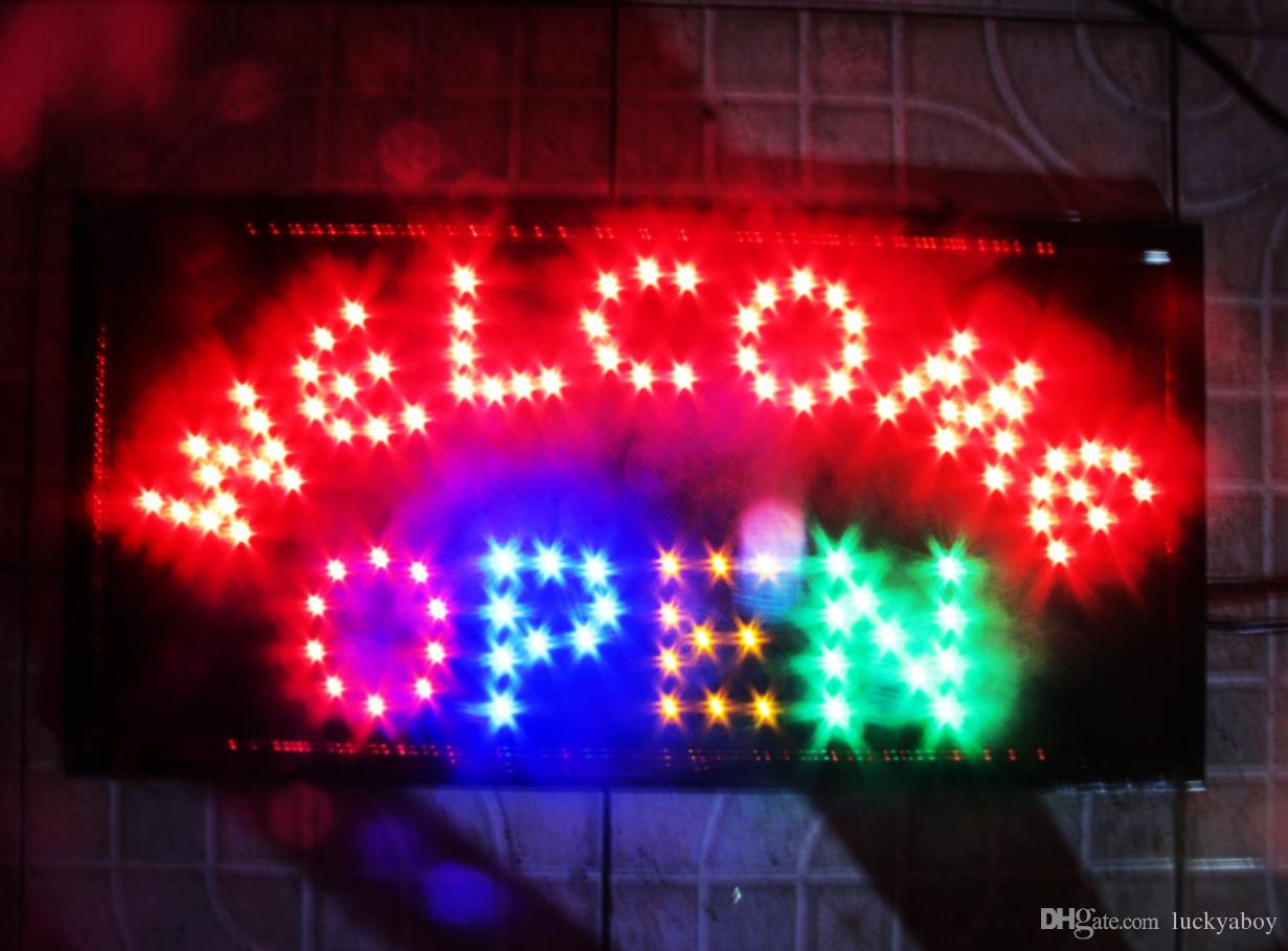 Wel e Open Colorful Shiny LED OPEN Sign Neon Light Billboard for