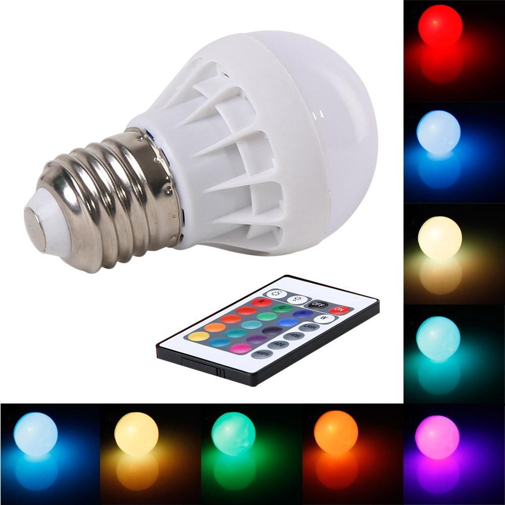 Best Wholesale New Arrival E27 3w Rgb Led Bulb Light Led Lamp With