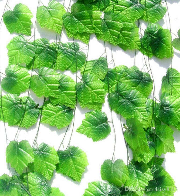 6.8feet Wired Ivy Garland Silk Artificial Vine Greenery For Wedding Home Office