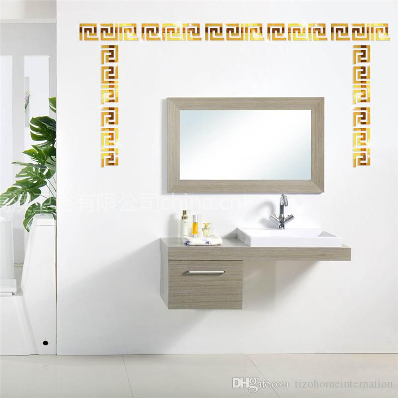 Geometric Waist 3D Mirror Wall Sticker For Ceiling Living Room Bedroom Acrylic Mural Wall Decals Modern DIY Home Decor