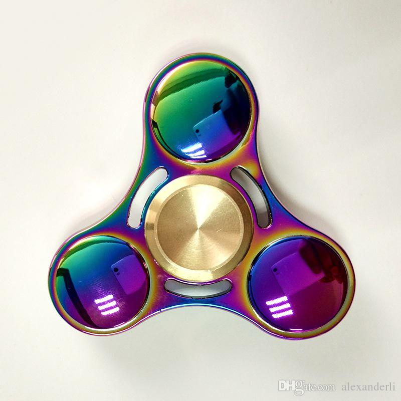 High Grade Rainbow Hand Spinner Ceramic Bearing Fingertip Gyro
