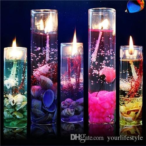 Горячая ароматерапия бездымные свечи морские раковины эфирное масло желе свадебные свечи романтические ароматические свечи цвет случайный