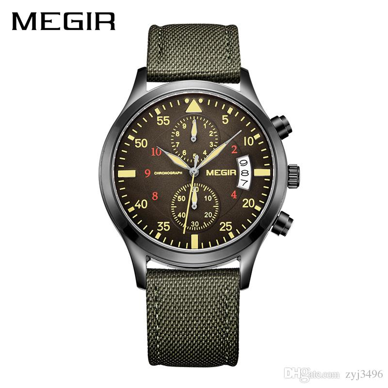 ec1feae76a3 MEGIR Original Men Watches Fashion Canvas Military Watch For Gentle Men  Male Quartz Wristwatches Relogio Masculino Reloj Hombre Buying Watches  First Wrist ...