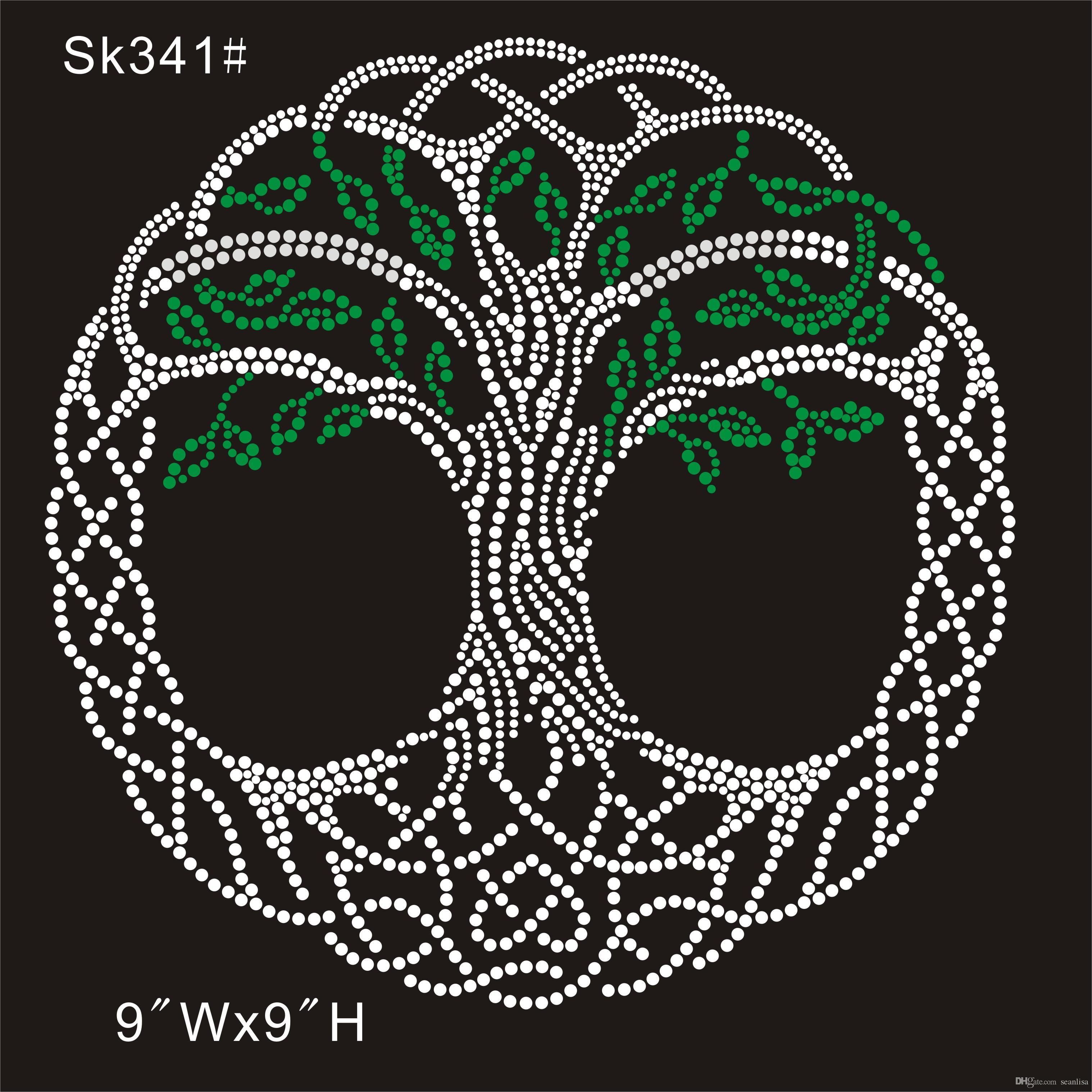 2019 Sk 341 Crystal Green Tree Custom From China Factory Rhinestone