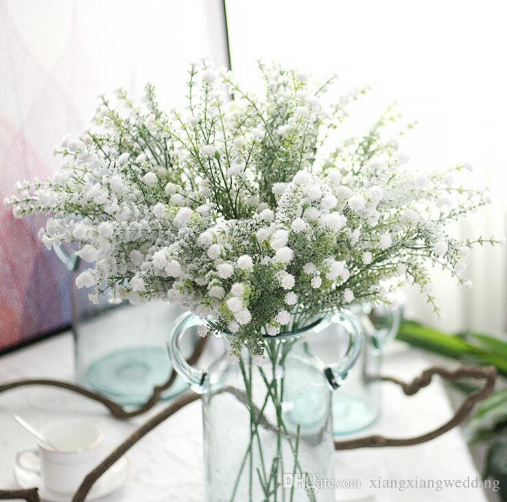 Artificial Gypsophila Bouque Flowers Wedding Fake Babysbreath Flowers Christmas Party Table Decoration Bouquet Simulation Babys Breath