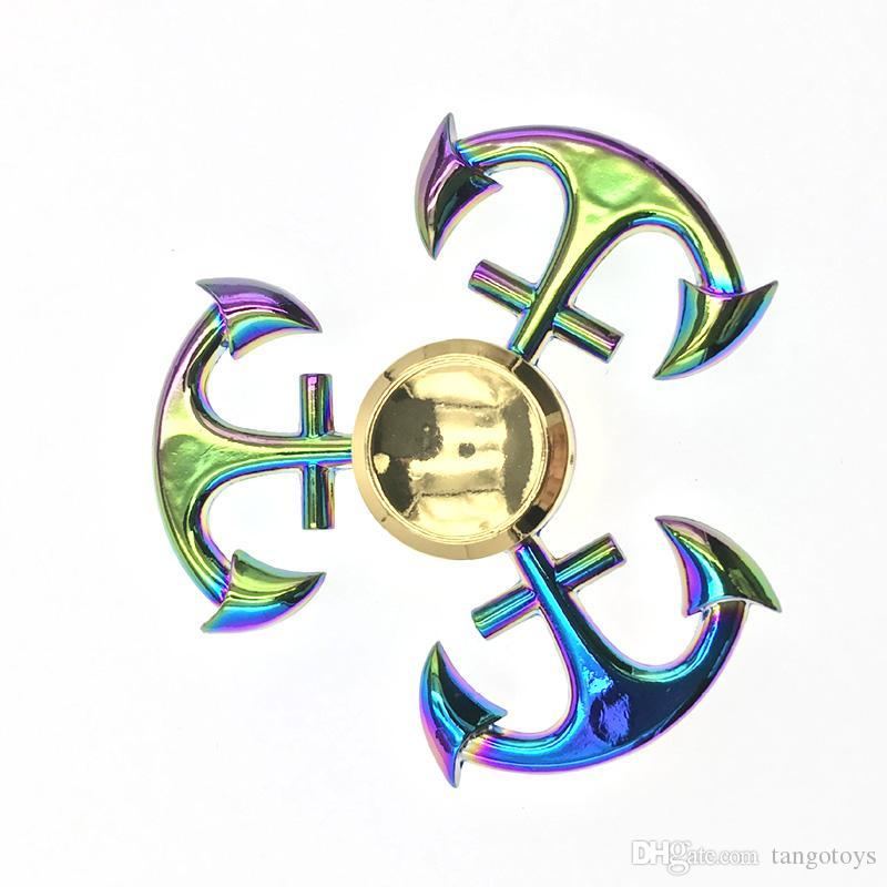 Metal Anchor Fid Spinners Rainbow Anchor Spinner Zinc Alloy Hand
