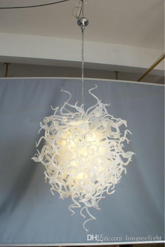Lambalar Yeni Tasarım Hign Tavan Modern Ev Dekoratif Işıklar Kolye Avize El Led Ampuller Ile Püskürtmeli Cam Avizeler Işık