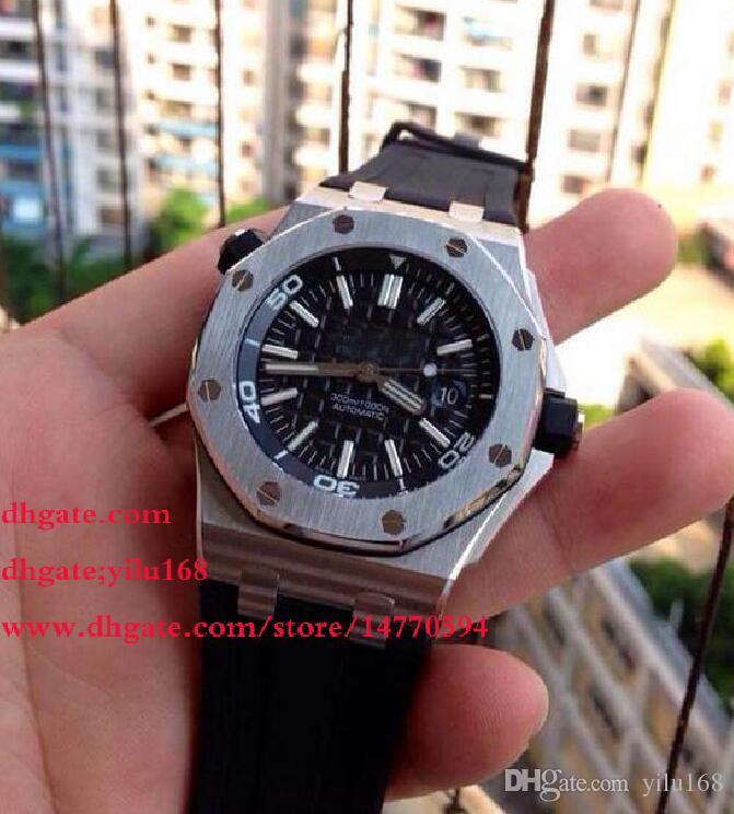 top quality christmas mens dress automatic black watch men calendar divers watches men s dive rubber business wristwatches shoes online shopping online